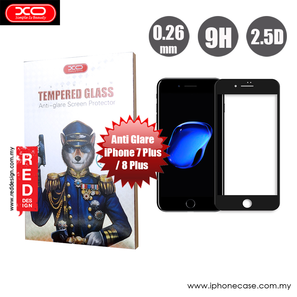 Picture of XO Anti Glare Tempered Glass for Apple iPhone 7 Plus iPhone 8 Plus 5.5  (Anti Glare Black) Apple iPhone 8 Plus- Apple iPhone 8 Plus Cases, Apple iPhone 8 Plus Covers, iPad Cases and a wide selection of Apple iPhone 8 Plus Accessories in Malaysia, Sabah, Sarawak and Singapore