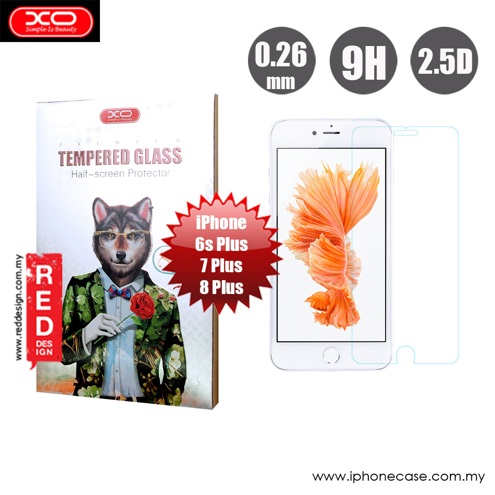 Picture of XO Premium Tempered Glass for Apple iPhone 6S Plus 7 Plus 8 Plus 5.5 (0.26mm Clear) Apple iPhone 8 Plus- Apple iPhone 8 Plus Cases, Apple iPhone 8 Plus Covers, iPad Cases and a wide selection of Apple iPhone 8 Plus Accessories in Malaysia, Sabah, Sarawak and Singapore