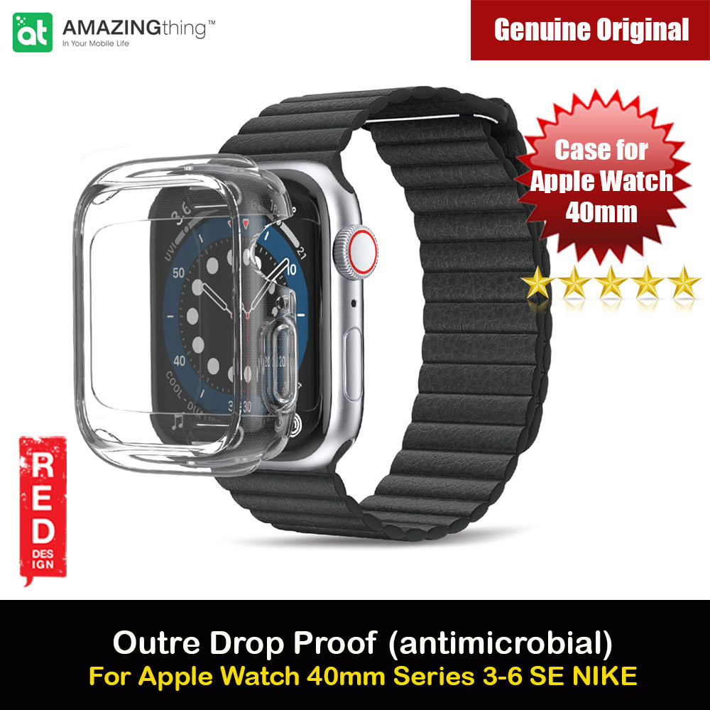 Picture of Amazingthing Outre Drop Proof Case with Front Built in Screen Protector for Apple Watch 40mm Series 4 5 6 SE (antimicrobial Clear) Apple Watch 40mm- Apple Watch 40mm Cases, Apple Watch 40mm Covers, iPad Cases and a wide selection of Apple Watch 40mm Accessories in Malaysia, Sabah, Sarawak and Singapore