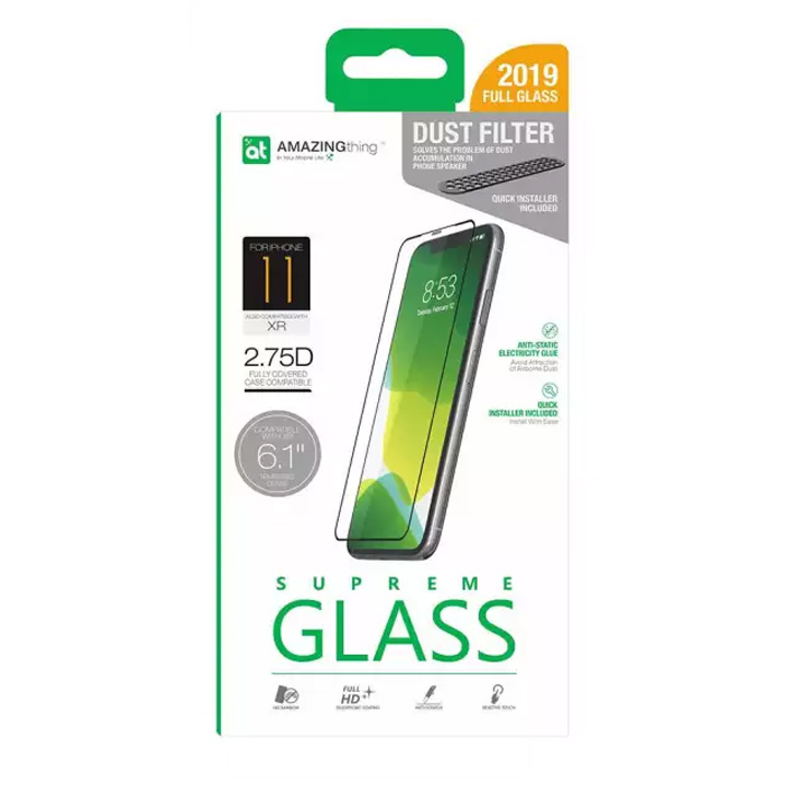 Picture of Apple iPhone XR  | AMAZINGThing Supreme Glass 2.75D Tempered Glass for iPhone XR iPhone 11 6.1 with dust filter
