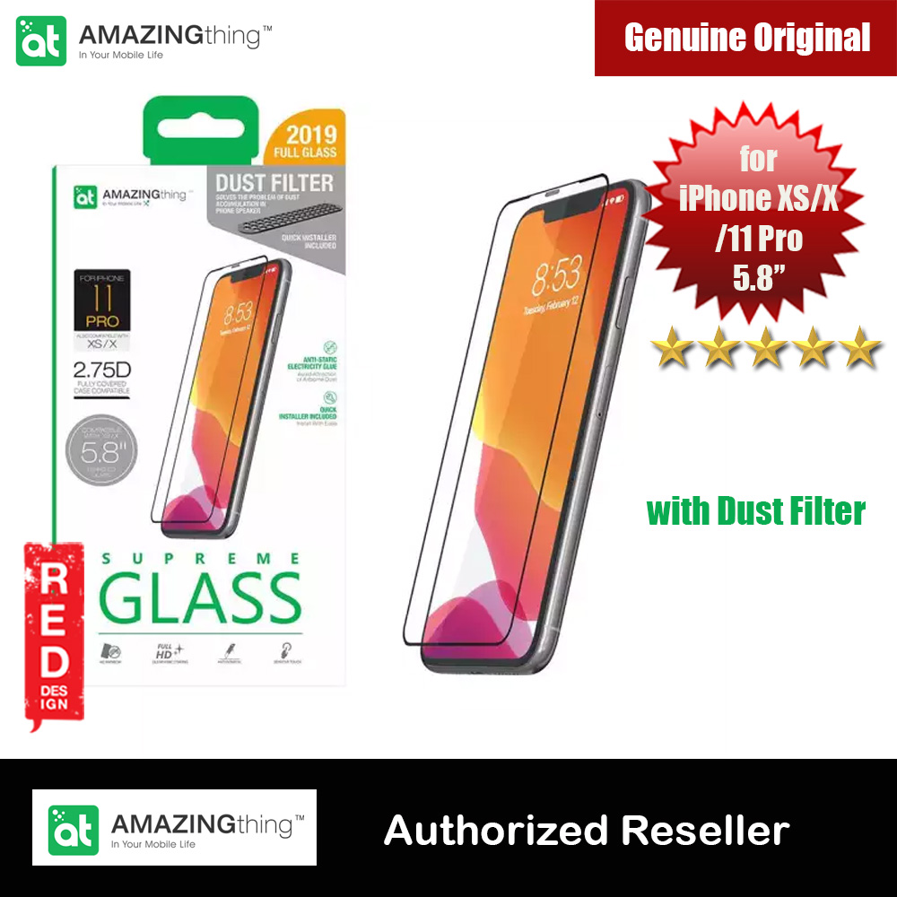 Picture of AMAZINGThing Supreme Glass 2.75D Tempered Glass for iPhone XS iPhone X iPhone 11 Pro 5.8 with dust filter Apple iPhone 11 Pro 5.8- Apple iPhone 11 Pro 5.8 Cases, Apple iPhone 11 Pro 5.8 Covers, iPad Cases and a wide selection of Apple iPhone 11 Pro 5.8 Accessories in Malaysia, Sabah, Sarawak and Singapore