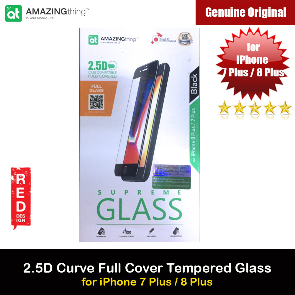 Picture of AMAZINGThing Supreme Glass 2.5D Tempered Glass for iPhone 7 Plus iPhone 8 Plus (Black) Apple iPhone 7 Plus 5.5- Apple iPhone 7 Plus 5.5 Cases, Apple iPhone 7 Plus 5.5 Covers, iPad Cases and a wide selection of Apple iPhone 7 Plus 5.5 Accessories in Malaysia, Sabah, Sarawak and Singapore