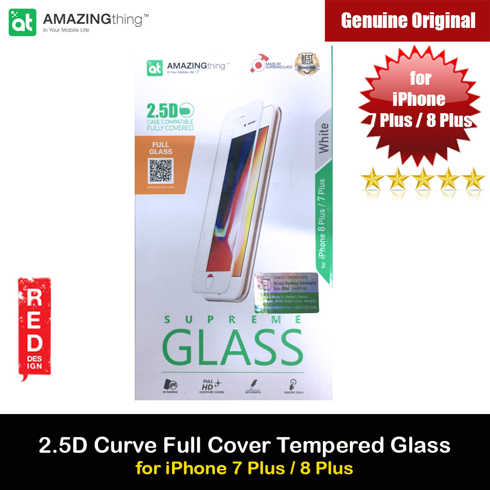 Picture of AMAZINGThing Supreme Glass 2.5D Tempered Glass for iPhone 7 Plus iPhone 8 Plus (White) Apple iPhone 7 Plus 5.5- Apple iPhone 7 Plus 5.5 Cases, Apple iPhone 7 Plus 5.5 Covers, iPad Cases and a wide selection of Apple iPhone 7 Plus 5.5 Accessories in Malaysia, Sabah, Sarawak and Singapore