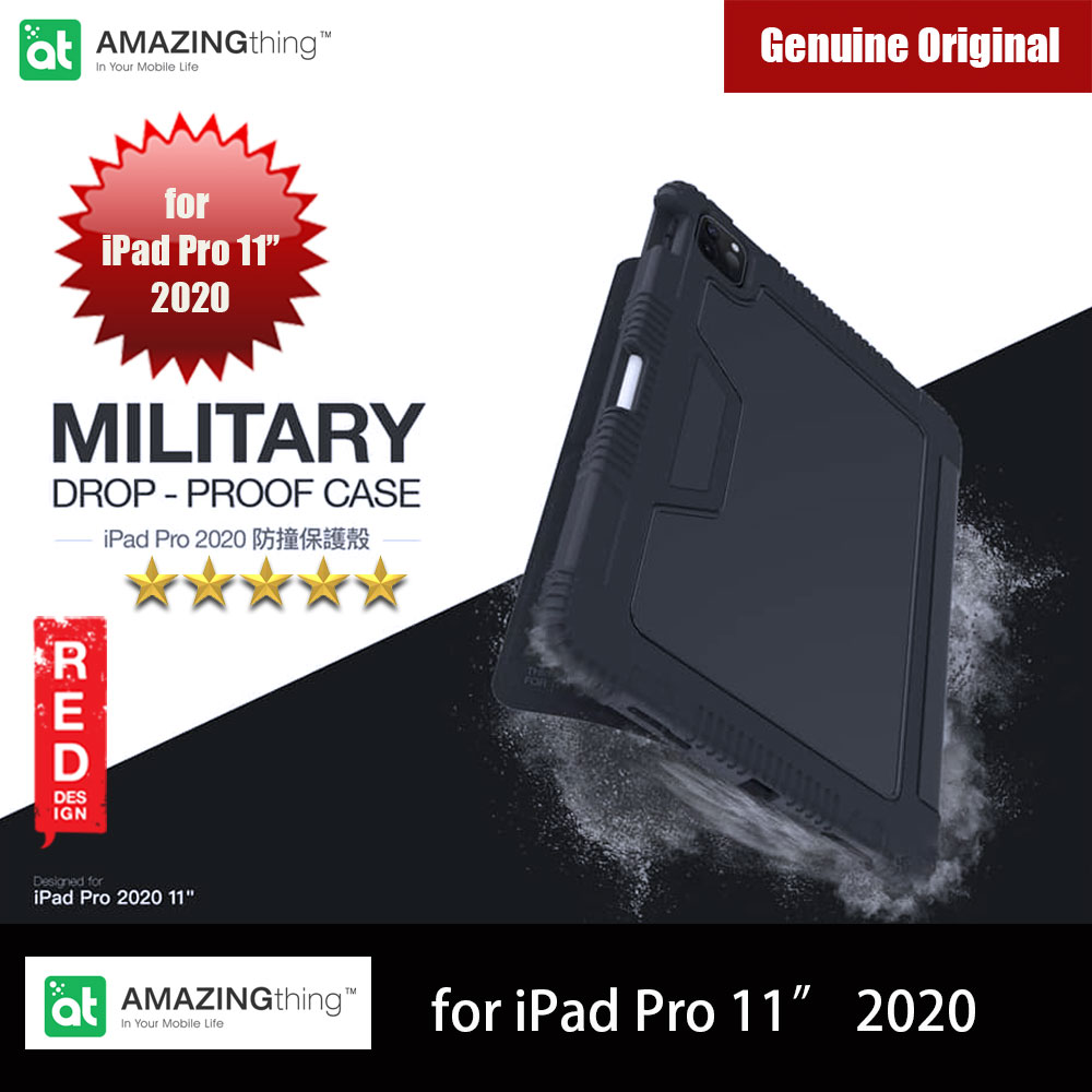 Picture of AMAZINGthing MiL Drop proof Folio Flip Case For Apple iPad Pro 11 2020 (Black) Apple iPad Pro 11 2nd gen 2020- Apple iPad Pro 11 2nd gen 2020 Cases, Apple iPad Pro 11 2nd gen 2020 Covers, iPad Cases and a wide selection of Apple iPad Pro 11 2nd gen 2020 Accessories in Malaysia, Sabah, Sarawak and Singapore