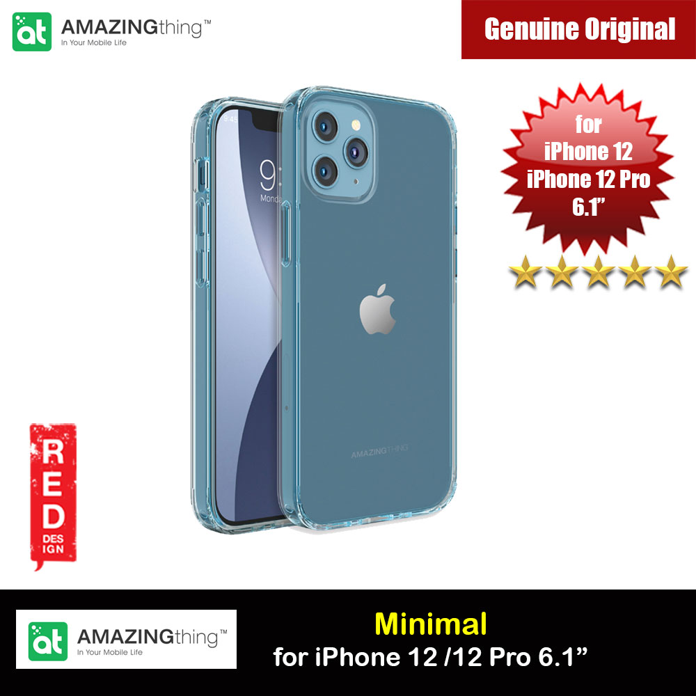 Picture of Amazingthing Minimal Military Drop Proof Slim Case with antimicrobial for iPhone 12 iPhone 12 Pro 6.1 (Blue) Apple iPhone 12 6.1- Apple iPhone 12 6.1 Cases, Apple iPhone 12 6.1 Covers, iPad Cases and a wide selection of Apple iPhone 12 6.1 Accessories in Malaysia, Sabah, Sarawak and Singapore