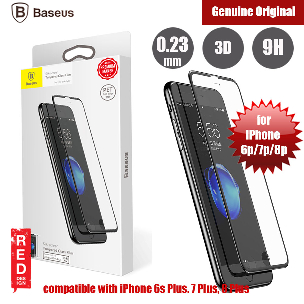 Picture of Baseus Soft PET Edge Full Coverage 3D Tempered Glass for Apple iPhone 8 Plus 7 Plus 6S Plus (Black) Apple iPhone 7 Plus 5.5- Apple iPhone 7 Plus 5.5 Cases, Apple iPhone 7 Plus 5.5 Covers, iPad Cases and a wide selection of Apple iPhone 7 Plus 5.5 Accessories in Malaysia, Sabah, Sarawak and Singapore