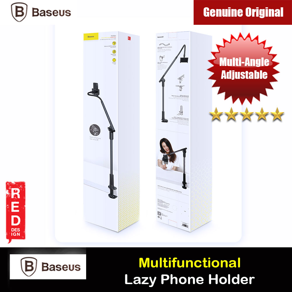 Picture of Baseus Adjustable Aluminum Alloy Light Weight Easy Adjust Lazy Phone Holder (Grey)