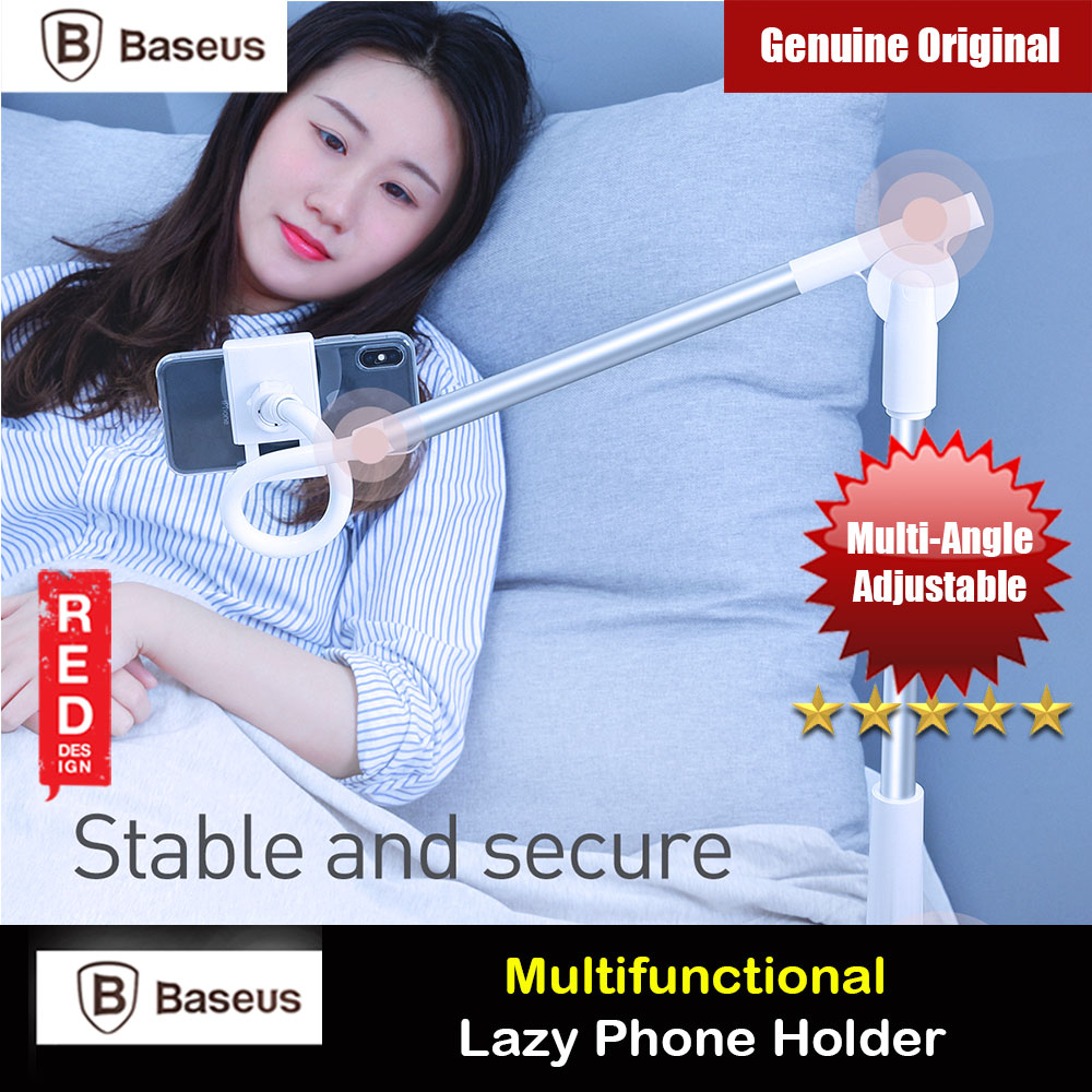 Picture of Baseus Adjustable Aluminum Alloy Light Weight Easy Adjust Lazy Phone Holder (Silver) Red Design- Red Design Cases, Red Design Covers, iPad Cases and a wide selection of Red Design Accessories in Malaysia, Sabah, Sarawak and Singapore