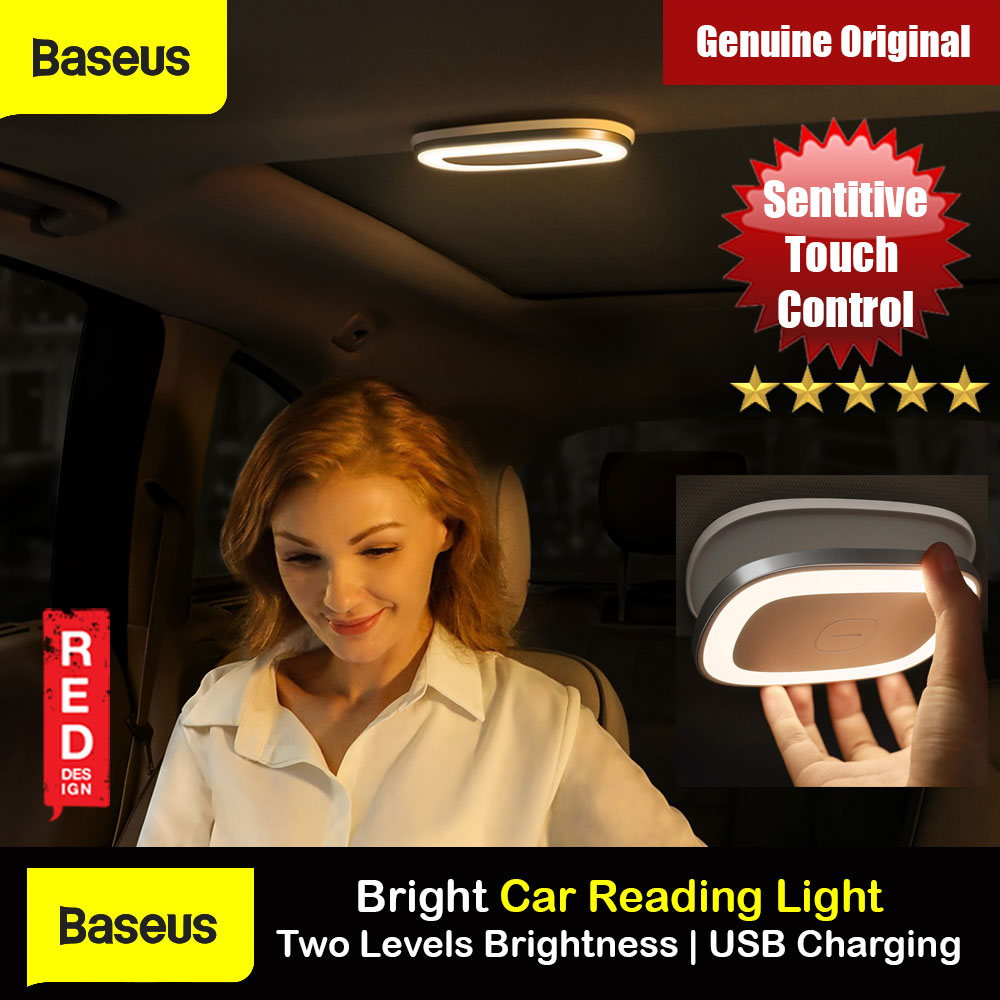 Picture of Baseus inAuto Bright Car Reading Light Touch Control 2 Brightness Slim LED Light Portable Rechargable Light for Car Interior Lockers Wardrobes Kitchens (Natural light 4000K) Red Design- Red Design Cases, Red Design Covers, iPad Cases and a wide selection of Red Design Accessories in Malaysia, Sabah, Sarawak and Singapore