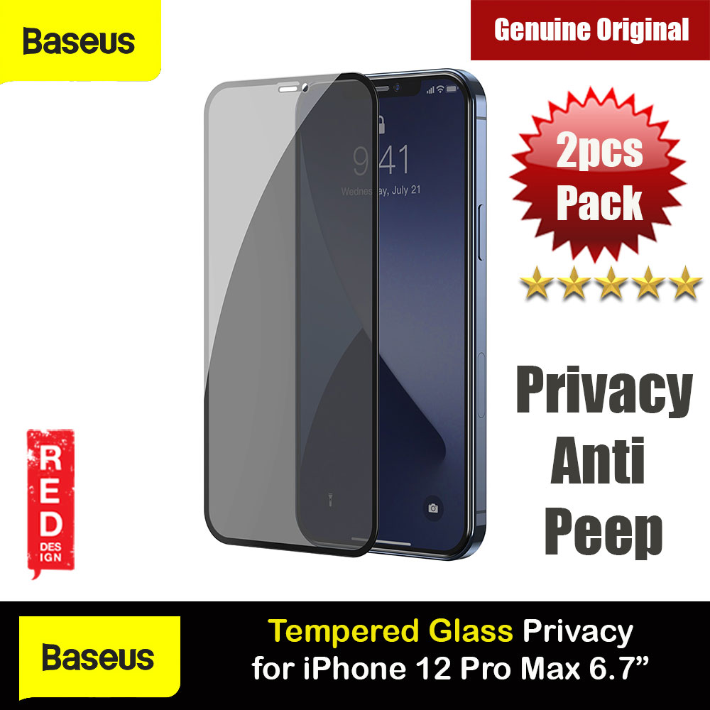 Picture of Baseus 0.3mm Privacy Anti Peep Anti View Full Screen Tempered Glass for iPhone 12 Pro Max 6.7 (Privacy 2pcs Pack) Apple iPhone 12 Pro Max 6.7- Apple iPhone 12 Pro Max 6.7 Cases, Apple iPhone 12 Pro Max 6.7 Covers, iPad Cases and a wide selection of Apple iPhone 12 Pro Max 6.7 Accessories in Malaysia, Sabah, Sarawak and Singapore