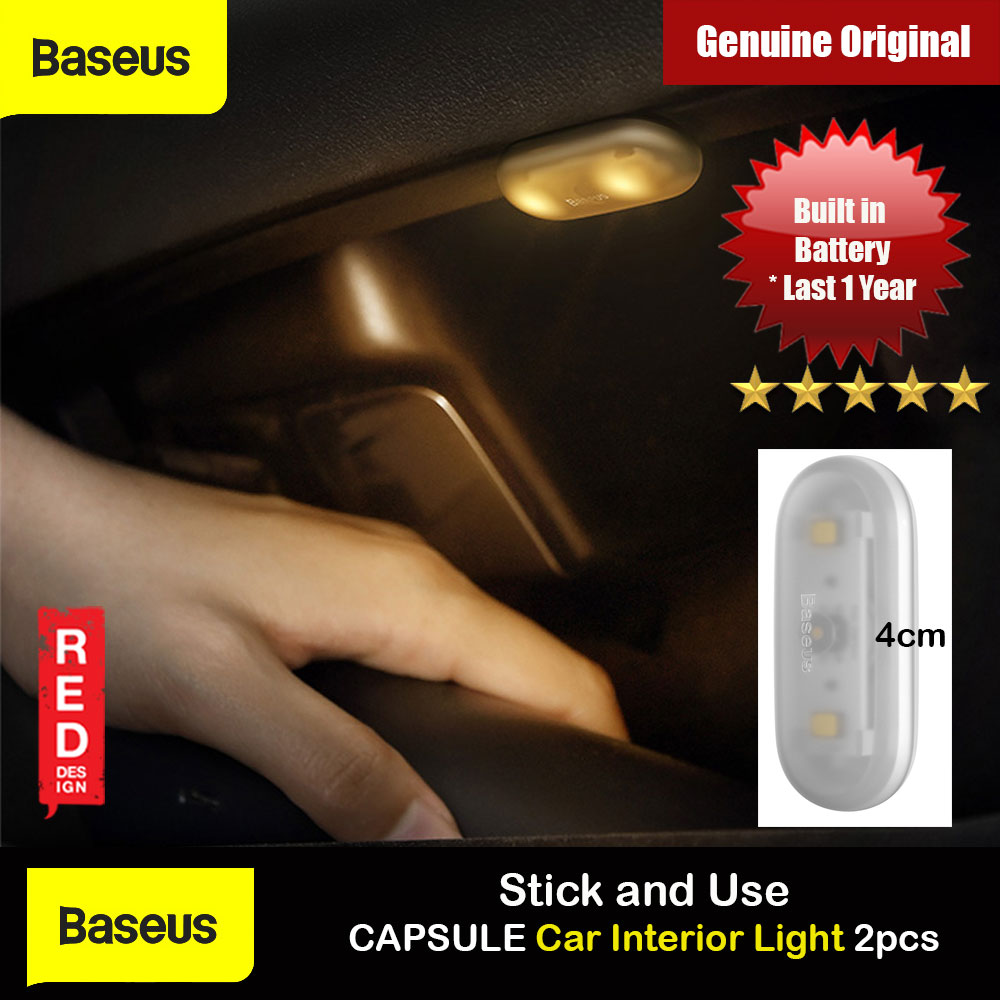 Picture of Baseus inAuto Capsule Car Interior Light Stick and Use Mini Design Touch Switch LED Light Energy Saving Light for Car Door Car Storage Box Car Seat Corners Storage Drawers (White 2pcs) Red Design- Red Design Cases, Red Design Covers, iPad Cases and a wide selection of Red Design Accessories in Malaysia, Sabah, Sarawak and Singapore