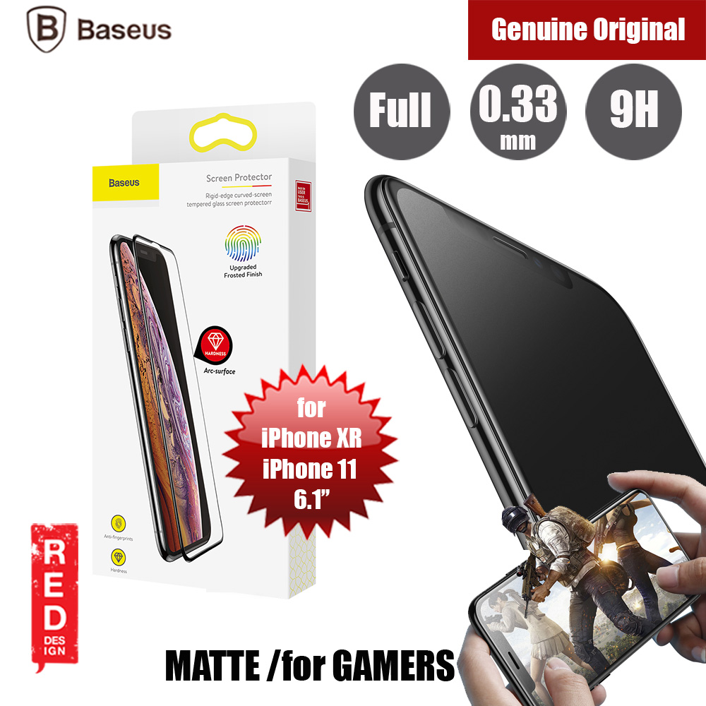 "Picture of Baseus Full Coverage Gaming Tempered Glass for Apple iPhone XR iPhone 11 6.1"" (Matte Surface) Apple iPhone 11 6.1- Apple iPhone 11 6.1 Cases, Apple iPhone 11 6.1 Covers, iPad Cases and a wide selection of Apple iPhone 11 6.1 Accessories in Malaysia, Sabah, Sarawak and Singapore"