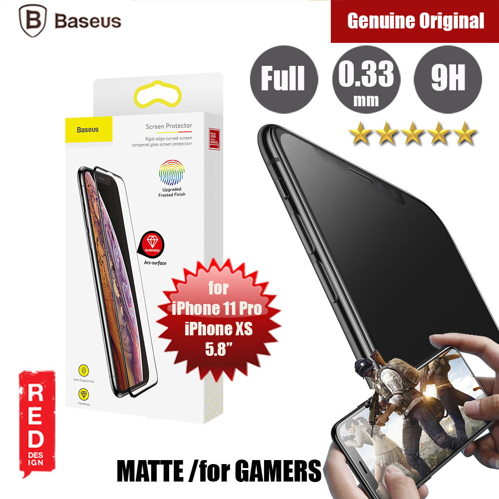 "Picture of Baseus Full Coverage Gaming Tempered Glass for Apple iPhone XS iPhone 11 Pro 5.8"" (Matte Surface) Apple iPhone 11 Pro 5.8- Apple iPhone 11 Pro 5.8 Cases, Apple iPhone 11 Pro 5.8 Covers, iPad Cases and a wide selection of Apple iPhone 11 Pro 5.8 Accessories in Malaysia, Sabah, Sarawak and Singapore"