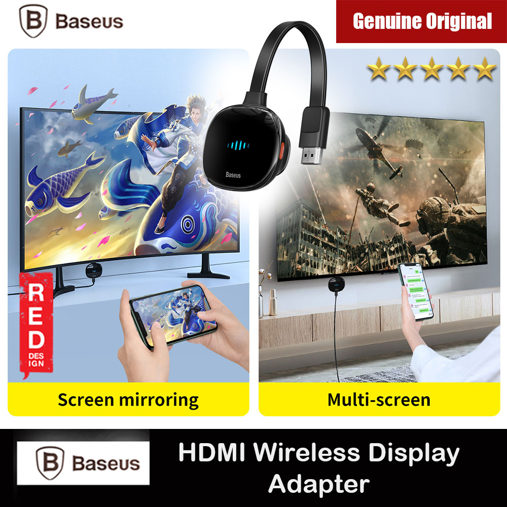 Picture of Baseus Meteorite Shimmer Wireless Display Adapter HDMI Wireless Projection Turn Mobile Phone Display Tablet Display to TV Large Screen Red Design- Red Design Cases, Red Design Covers, iPad Cases and a wide selection of Red Design Accessories in Malaysia, Sabah, Sarawak and Singapore