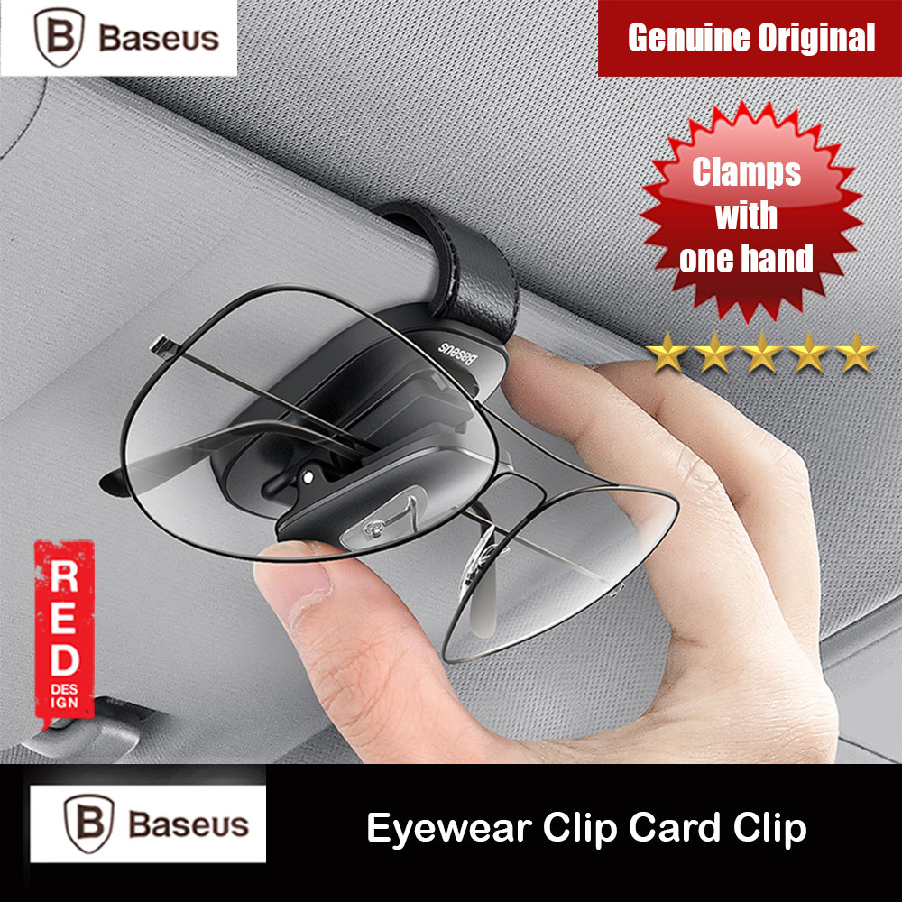 Picture of Baseus Platinum Vehicle Eyewear Glasses Sunglasses Clamping Clip Card Clamping Clip (Black) Red Design- Red Design Cases, Red Design Covers, iPad Cases and a wide selection of Red Design Accessories in Malaysia, Sabah, Sarawak and Singapore