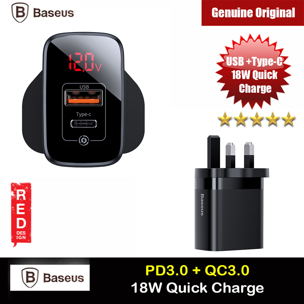 Picture of Baseus PPS Quick Charge PD18W Quick Charger Protocol Charger for Apple Samsung Huawei Mi USB TYPE C Ports Power Charger (Black) iPhone Cases - iPhone 12, iPhone 12 Pro max, iPhone 11, iPhone 11 Pro Max, iPhone XS Max, iPhone X,iPhone SE,Galaxy Note 20 Ultra ,iPhone 8 Plus Cases Malaysia,iPad Air Pro Cases and a wide selection of Accessories in Malaysia, Sabah, Sarawak and Singapore.