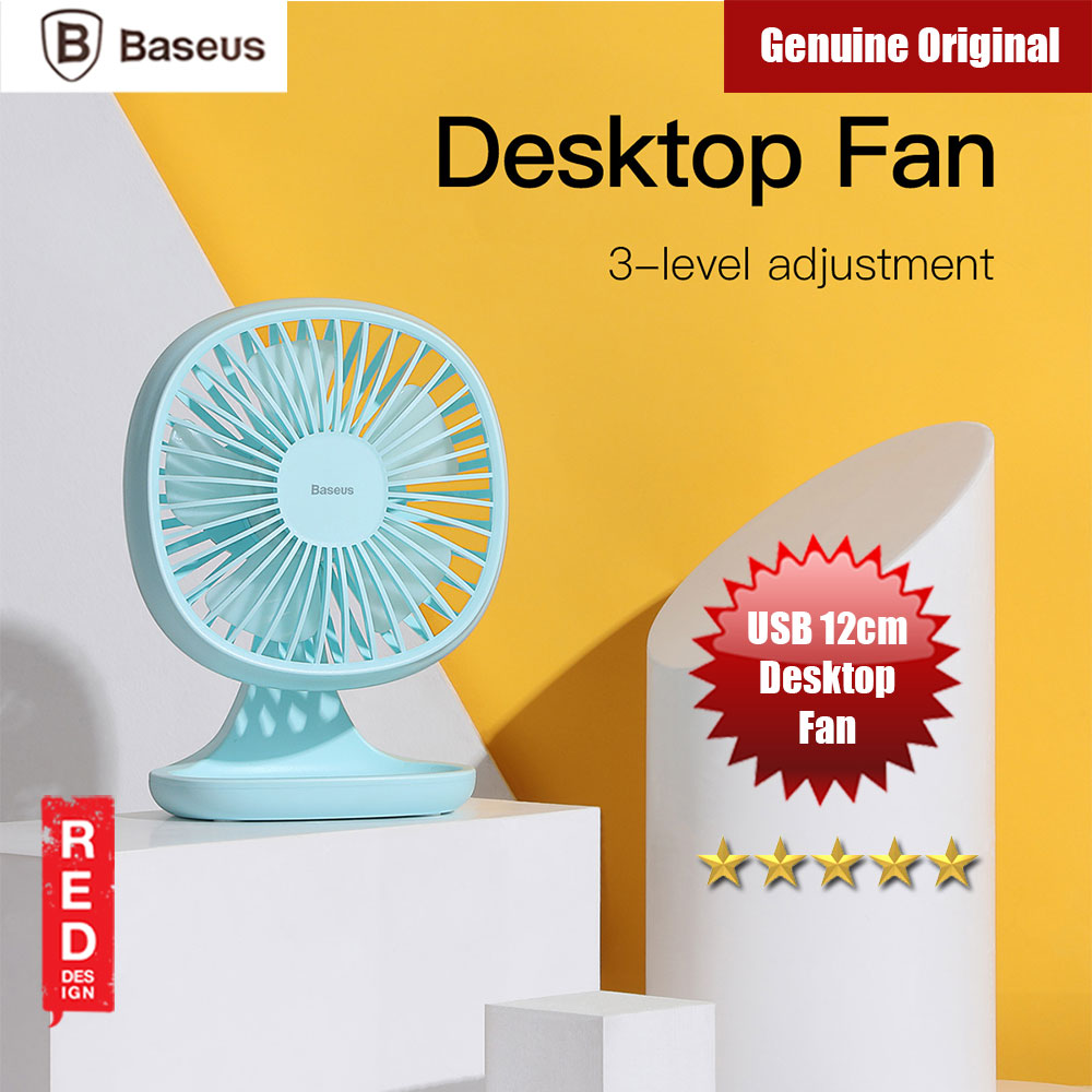Picture of Baseus USB Mini Desktop Fan Home Office Gift Portable Fans (Blue) Red Design- Red Design Cases, Red Design Covers, iPad Cases and a wide selection of Red Design Accessories in Malaysia, Sabah, Sarawak and Singapore