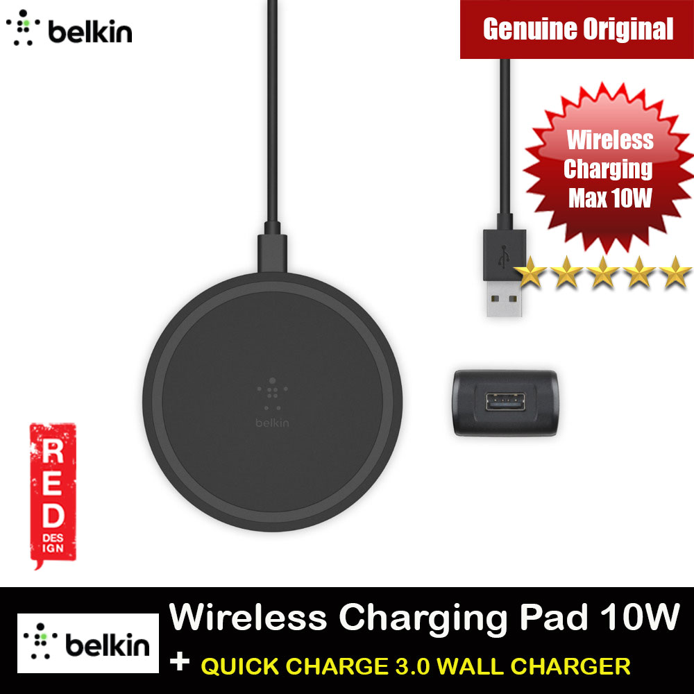 Picture of Belkin BOOST UP Wireless Charging Pad 10W with QUICK CHARGE 3.0 WALL CHARGER for Apple Samsung iPhone 11 Pro Max (Black) Red Design- Red Design Cases, Red Design Covers, iPad Cases and a wide selection of Red Design Accessories in Malaysia, Sabah, Sarawak and Singapore