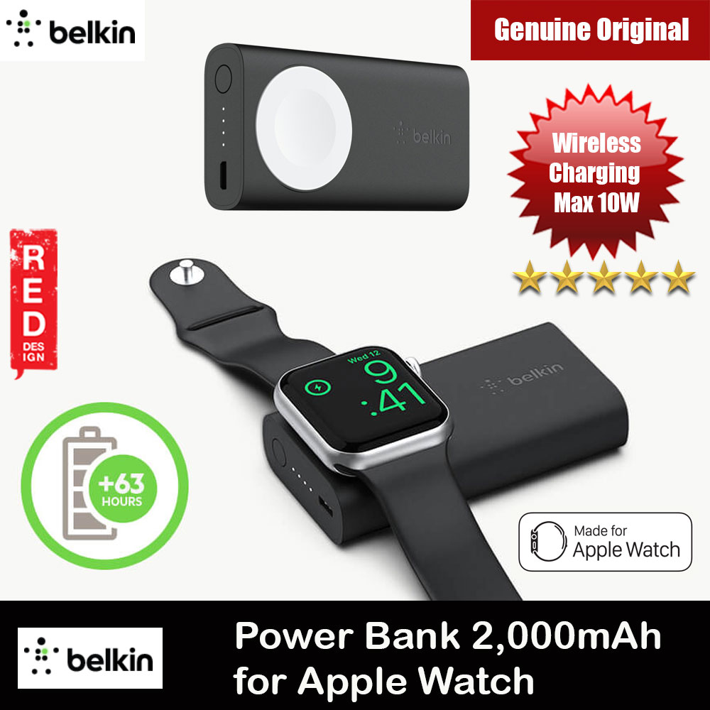 Picture of Belkin BOOST CHARGE Power Bank 2K for Apple Watch Series 1 Series 2 Series 3 Series 4 Series 5 Red Design- Red Design Cases, Red Design Covers, iPad Cases and a wide selection of Red Design Accessories in Malaysia, Sabah, Sarawak and Singapore