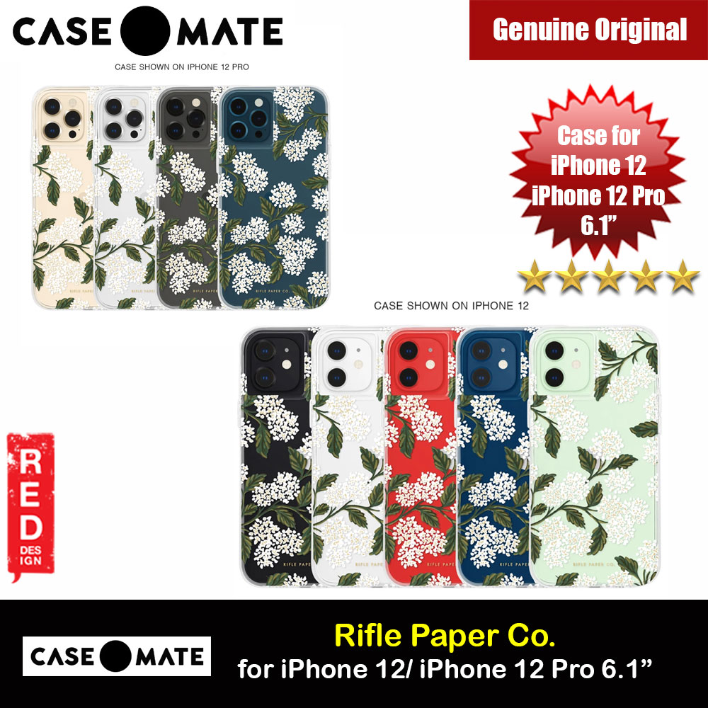 Picture of Case Mate Rifle Paper Co. Series Drop Protection Case for iPhone 12 iPhone 12 Pro 6.1 (Clear Hydrangea White) Apple iPhone 12 6.1- Apple iPhone 12 6.1 Cases, Apple iPhone 12 6.1 Covers, iPad Cases and a wide selection of Apple iPhone 12 6.1 Accessories in Malaysia, Sabah, Sarawak and Singapore