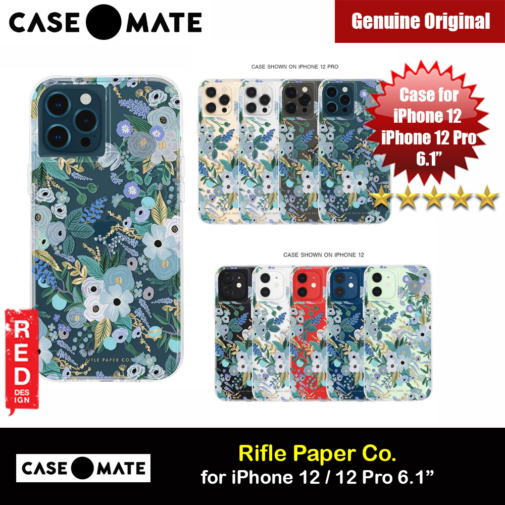 Picture of Case Mate Rifle Paper Co. Series Drop Protection Case for iPhone 12 iPhone 12 Pro 6.1 (Garden Party Blue) Apple iPhone 12 6.1- Apple iPhone 12 6.1 Cases, Apple iPhone 12 6.1 Covers, iPad Cases and a wide selection of Apple iPhone 12 6.1 Accessories in Malaysia, Sabah, Sarawak and Singapore
