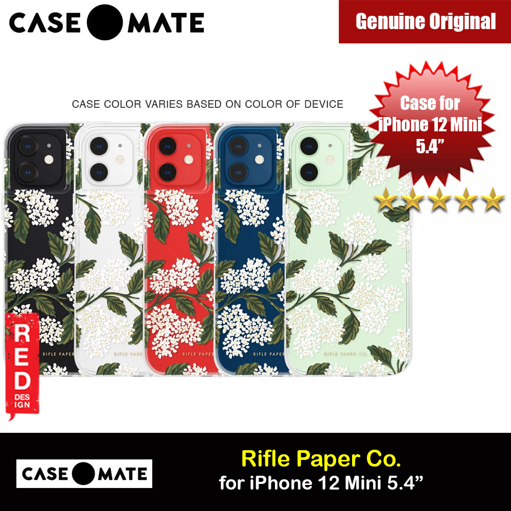 Picture of Case Mate Rifle Paper Co. Series Drop Protection Case for iPhone 12 Mini 5.4 (Clear Hydrangea White) Apple iPhone 12 mini 5.4- Apple iPhone 12 mini 5.4 Cases, Apple iPhone 12 mini 5.4 Covers, iPad Cases and a wide selection of Apple iPhone 12 mini 5.4 Accessories in Malaysia, Sabah, Sarawak and Singapore