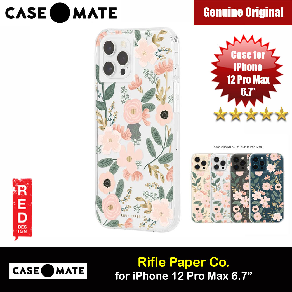Picture of Case Mate Rifle Paper Co. Series Drop Protection Case for iPhone 12 Pro Max 6.7 (Wild Flowers) Apple iPhone 12 Pro Max 6.7- Apple iPhone 12 Pro Max 6.7 Cases, Apple iPhone 12 Pro Max 6.7 Covers, iPad Cases and a wide selection of Apple iPhone 12 Pro Max 6.7 Accessories in Malaysia, Sabah, Sarawak and Singapore