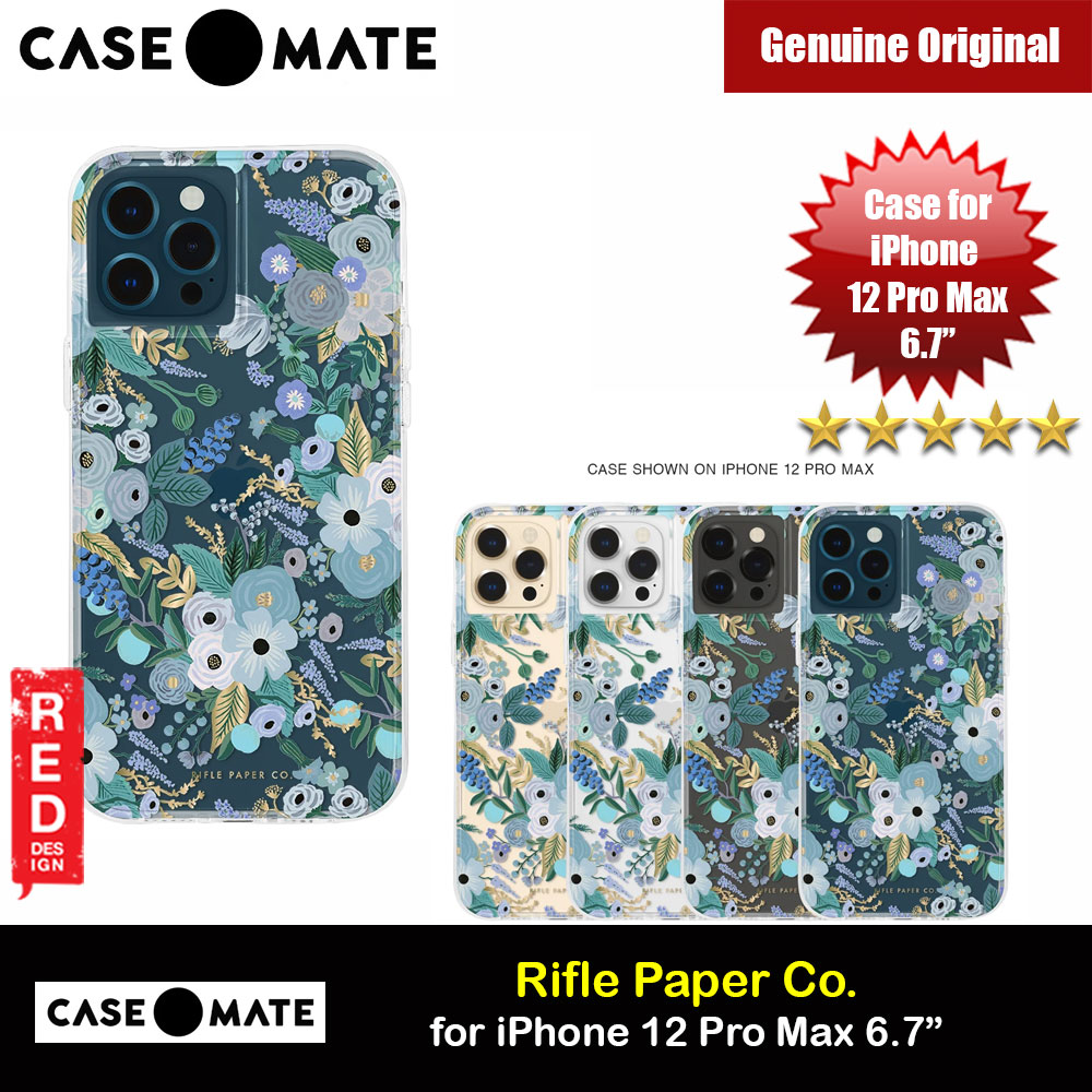 Picture of Case Mate Rifle Paper Co. Series Drop Protection Case for iPhone 12 Pro Max 6.7 (Garden Party Blue) Apple iPhone 12 Pro Max 6.7- Apple iPhone 12 Pro Max 6.7 Cases, Apple iPhone 12 Pro Max 6.7 Covers, iPad Cases and a wide selection of Apple iPhone 12 Pro Max 6.7 Accessories in Malaysia, Sabah, Sarawak and Singapore