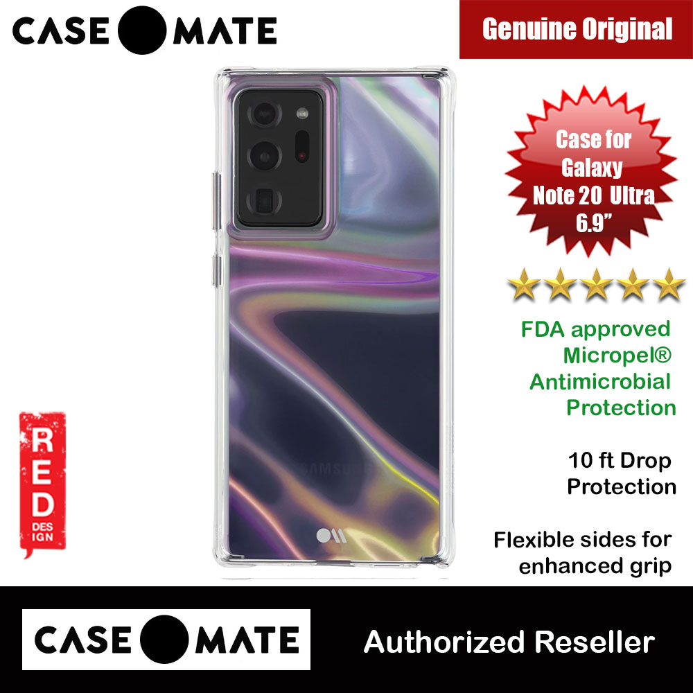 Picture of Case Mate Soap Bubble FDA approved Micropel Antimicrobial Protection Case for Samsung Galaxy Note 20 Ultra 6.9 (Clear Iridescent ) Samsung Galaxy Note 20 Ultra- Samsung Galaxy Note 20 Ultra Cases, Samsung Galaxy Note 20 Ultra Covers, iPad Cases and a wide selection of Samsung Galaxy Note 20 Ultra Accessories in Malaysia, Sabah, Sarawak and Singapore