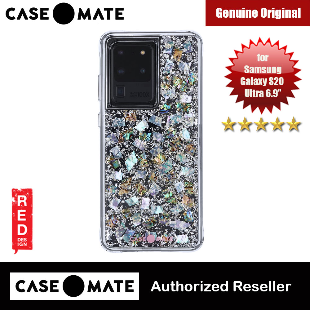 Picture of Case Mate Adorned with genuine mother of pearl elements Drop Protection Back Case for Samsung Galaxy 20 Ultra 6.9 (Karat Pearl) Samsung Galaxy S20 Ultra 6.9- Samsung Galaxy S20 Ultra 6.9 Cases, Samsung Galaxy S20 Ultra 6.9 Covers, iPad Cases and a wide selection of Samsung Galaxy S20 Ultra 6.9 Accessories in Malaysia, Sabah, Sarawak and Singapore