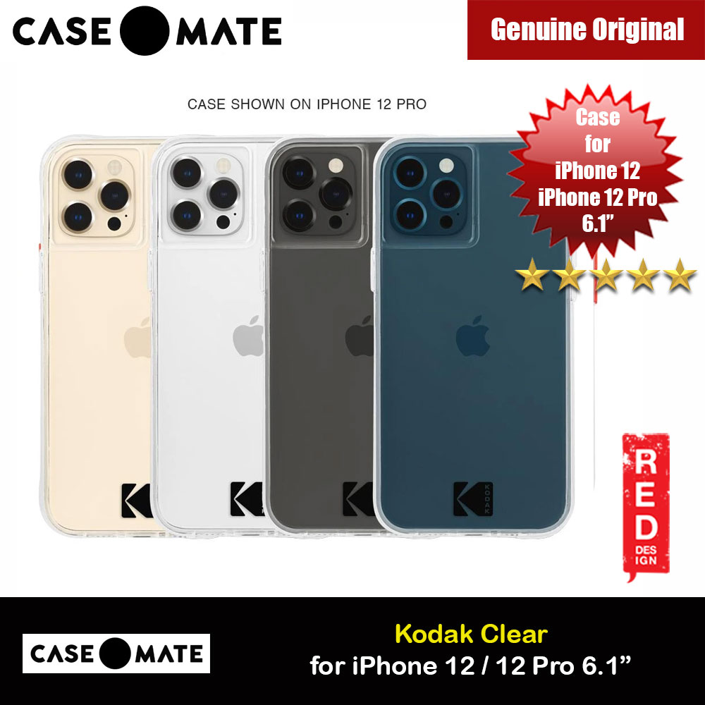 Picture of Case Mate Kodak Series Drop Protection Case for iPhone 12 iPhone 12 Pro 6.1 (Kodak Clear with Micropel) Apple iPhone 12 6.1- Apple iPhone 12 6.1 Cases, Apple iPhone 12 6.1 Covers, iPad Cases and a wide selection of Apple iPhone 12 6.1 Accessories in Malaysia, Sabah, Sarawak and Singapore