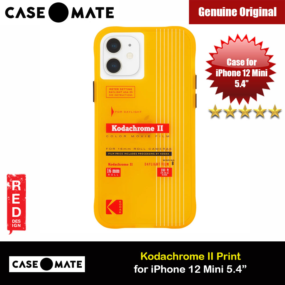 Picture of Case Mate Kodak Series Drop Protection Case for iPhone 12 Mini 5.4 (Vintage Yellow with Micropel) Apple iPhone 12 mini 5.4- Apple iPhone 12 mini 5.4 Cases, Apple iPhone 12 mini 5.4 Covers, iPad Cases and a wide selection of Apple iPhone 12 mini 5.4 Accessories in Malaysia, Sabah, Sarawak and Singapore