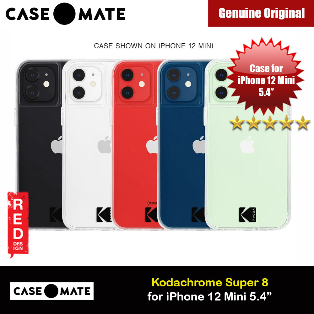 Picture of Case Mate Kodak Series Drop Protection Case for iPhone 12 Mini 5.4 (Kodak Clear with Micropel) Apple iPhone 12 mini 5.4- Apple iPhone 12 mini 5.4 Cases, Apple iPhone 12 mini 5.4 Covers, iPad Cases and a wide selection of Apple iPhone 12 mini 5.4 Accessories in Malaysia, Sabah, Sarawak and Singapore