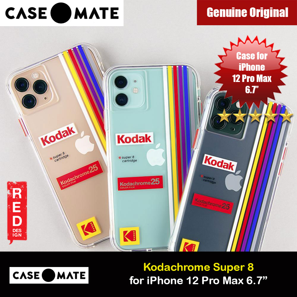 Picture of Case Mate Kodak Series Drop Protection Case for iPhone 12 Pro Max 6.7 (Kodachrome Super 8 with Micropel) Apple iPhone 12 Pro Max 6.7- Apple iPhone 12 Pro Max 6.7 Cases, Apple iPhone 12 Pro Max 6.7 Covers, iPad Cases and a wide selection of Apple iPhone 12 Pro Max 6.7 Accessories in Malaysia, Sabah, Sarawak and Singapore