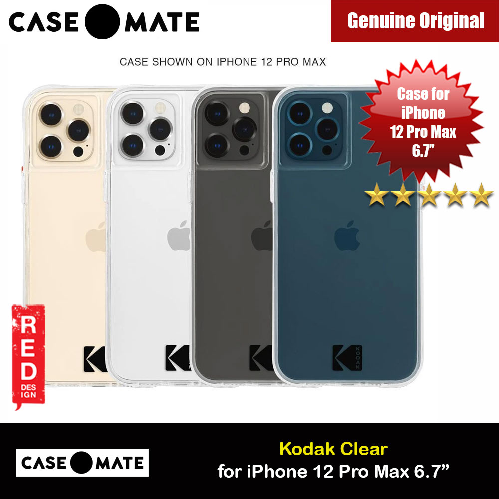 Picture of Case Mate Kodak Series Drop Protection Case for iPhone 12 Pro Max 6.7 (Kodak Clear with Micropel) Apple iPhone 12 Pro Max 6.7- Apple iPhone 12 Pro Max 6.7 Cases, Apple iPhone 12 Pro Max 6.7 Covers, iPad Cases and a wide selection of Apple iPhone 12 Pro Max 6.7 Accessories in Malaysia, Sabah, Sarawak and Singapore