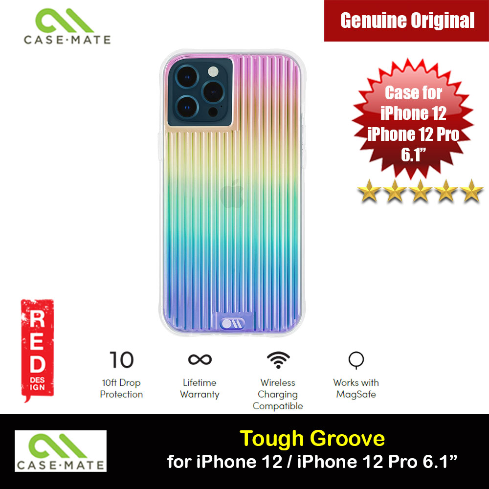Picture of Case Mate Tough Groove Iridescent Series Drop Protection Case for iPhone 12 iPhone 12 Pro 6.1 (Iridescent Linear with Micropel) Apple iPhone 12 6.1- Apple iPhone 12 6.1 Cases, Apple iPhone 12 6.1 Covers, iPad Cases and a wide selection of Apple iPhone 12 6.1 Accessories in Malaysia, Sabah, Sarawak and Singapore