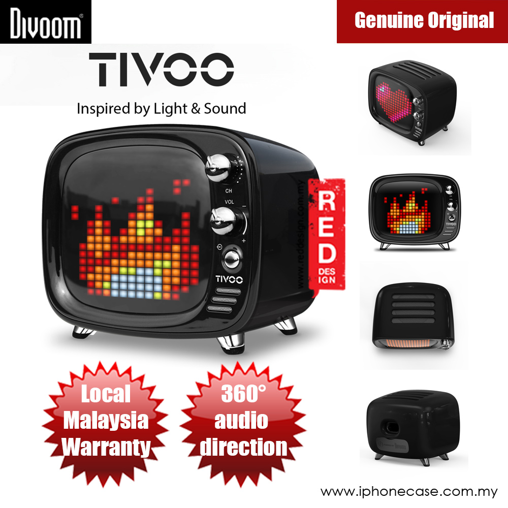 Picture of Divoom TIVOO Pixel Art Multifunction Alarm LED Bluetooth Speaker (Black) Red Design- Red Design Cases, Red Design Covers, iPad Cases and a wide selection of Red Design Accessories in Malaysia, Sabah, Sarawak and Singapore