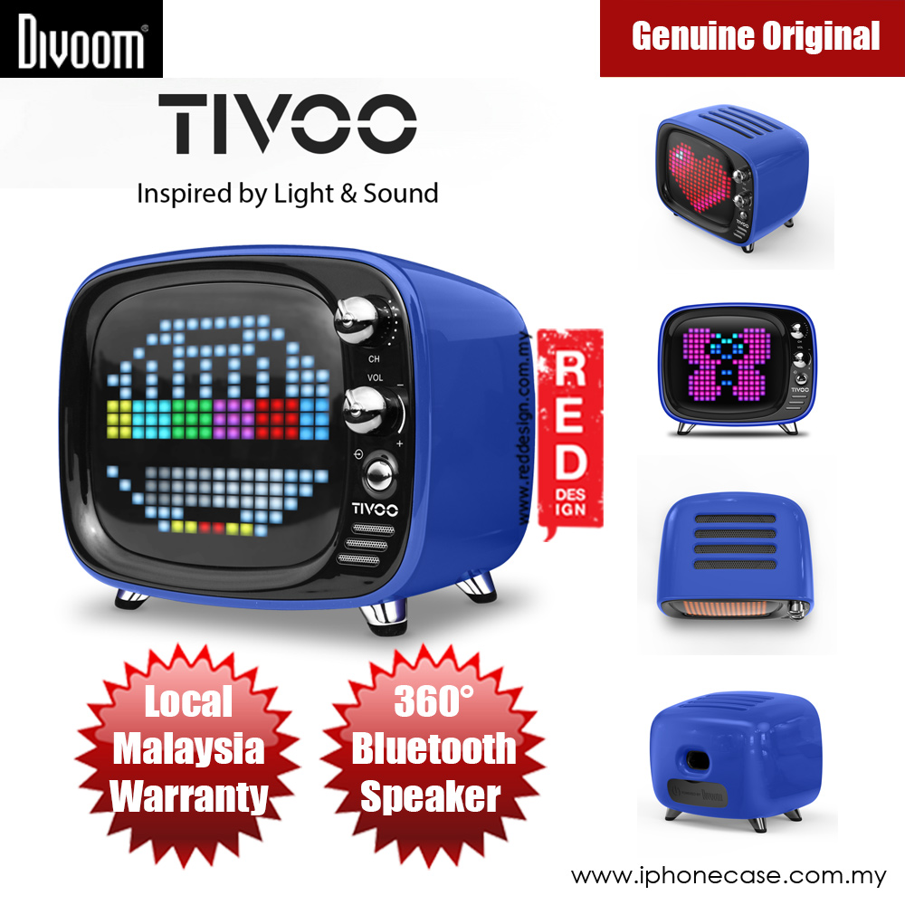 Picture of Divoom TIVOO Pixel Art Multifunction Alarm LED Bluetooth Speaker (Blue) Red Design- Red Design Cases, Red Design Covers, iPad Cases and a wide selection of Red Design Accessories in Malaysia, Sabah, Sarawak and Singapore
