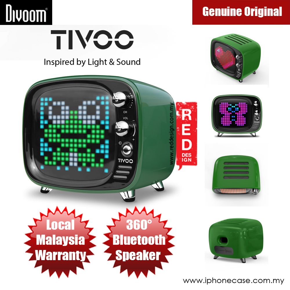 Picture of Divoom TIVOO Pixel Art Multifunction Alarm LED Bluetooth Speaker (Green) Red Design- Red Design Cases, Red Design Covers, iPad Cases and a wide selection of Red Design Accessories in Malaysia, Sabah, Sarawak and Singapore