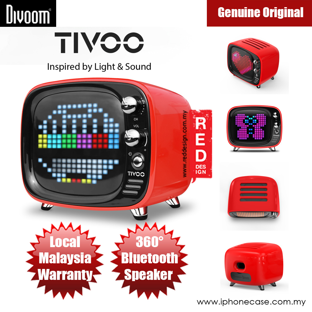 Picture of Divoom TIVOO Pixel Art Multifunction Alarm LED Bluetooth Speaker (Red) Red Design- Red Design Cases, Red Design Covers, iPad Cases and a wide selection of Red Design Accessories in Malaysia, Sabah, Sarawak and Singapore