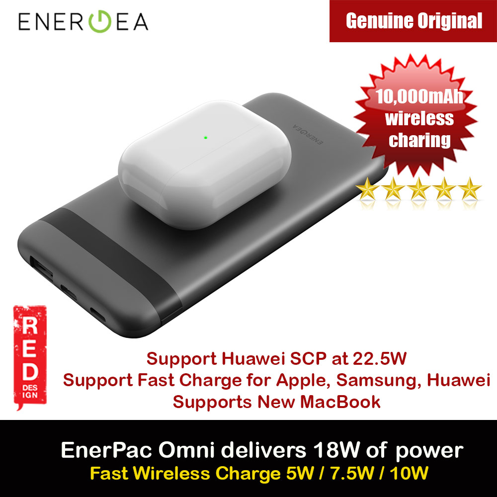 Picture of Energea EnerPac Omni Fast Wireless Charging Power Bank 10000mAh support QC 4 PD 3.0 SCP Huawei Samsung iPhone Airpods Pro Apple Watch Series 4 5 6 SE Red Design- Red Design Cases, Red Design Covers, iPad Cases and a wide selection of Red Design Accessories in Malaysia, Sabah, Sarawak and Singapore
