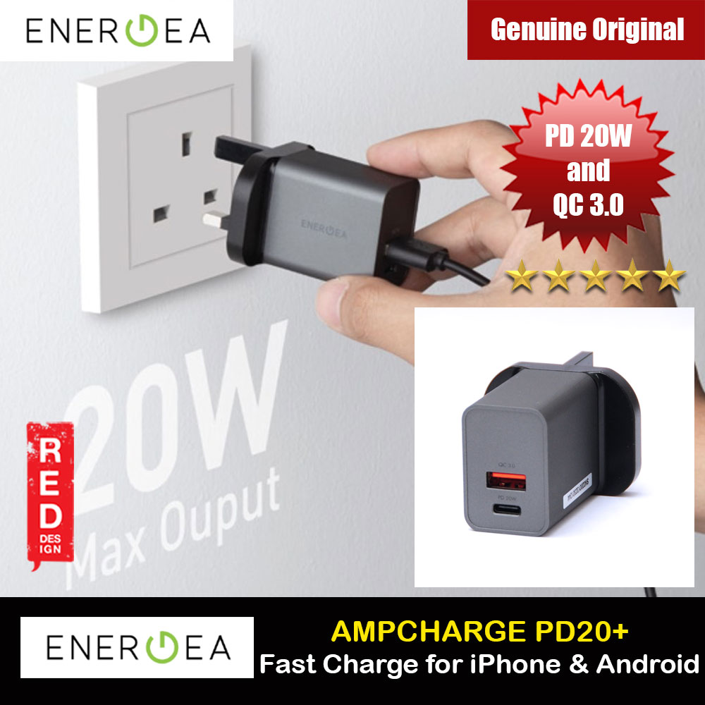 Picture of Energea AMPCHARGE PD20 Plus USB-A TYPE C Wall Fast Charger 20W Max PD Power delivery QC 3.0 for iPhone 12 iPhone 11 Pro Max Android Phone iPhone Cases - iPhone 12, iPhone 12 Pro max, iPhone 11, iPhone 11 Pro Max, iPhone XS Max, iPhone X,iPhone SE,Galaxy Note 20 Ultra ,iPhone 8 Plus Cases Malaysia,iPad Air Pro Cases and a wide selection of Accessories in Malaysia, Sabah, Sarawak and Singapore.