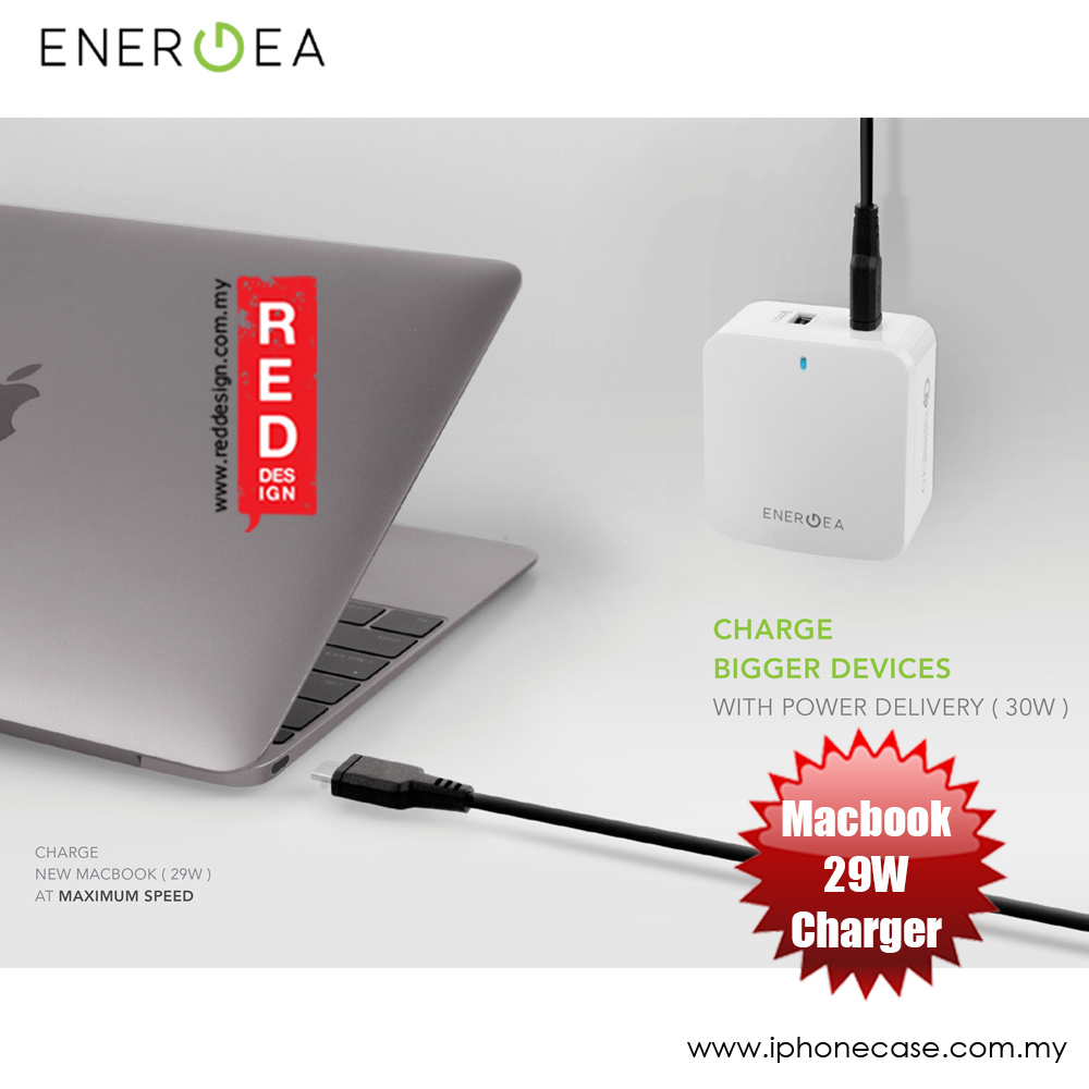 Picture of Energea TRAVELITTEPD Plus 2 Way Fast Charger USB-C Power Wall Charger for New Macbook and Quick Charge 3.0 for QC 3.0 Compatible Devices iPhone Cases - iPhone 12, iPhone 12 Pro max, iPhone 11, iPhone 11 Pro Max, iPhone XS Max, iPhone X,iPhone SE,Galaxy Note 20 Ultra ,iPhone 8 Plus Cases Malaysia,iPad Air Pro Cases and a wide selection of Accessories in Malaysia, Sabah, Sarawak and Singapore.
