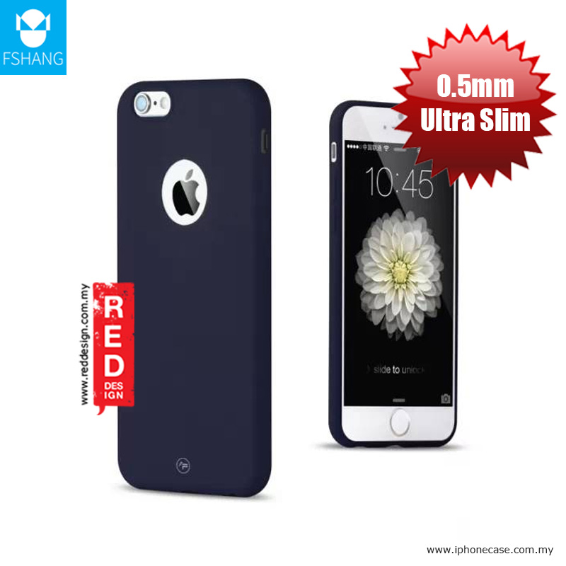 Picture of Apple iPhone 6S 4.7 Case | Fshang Soft Color Ultra Slim Case for Apple iPhone 6 iPhone 6S - Navy Blue