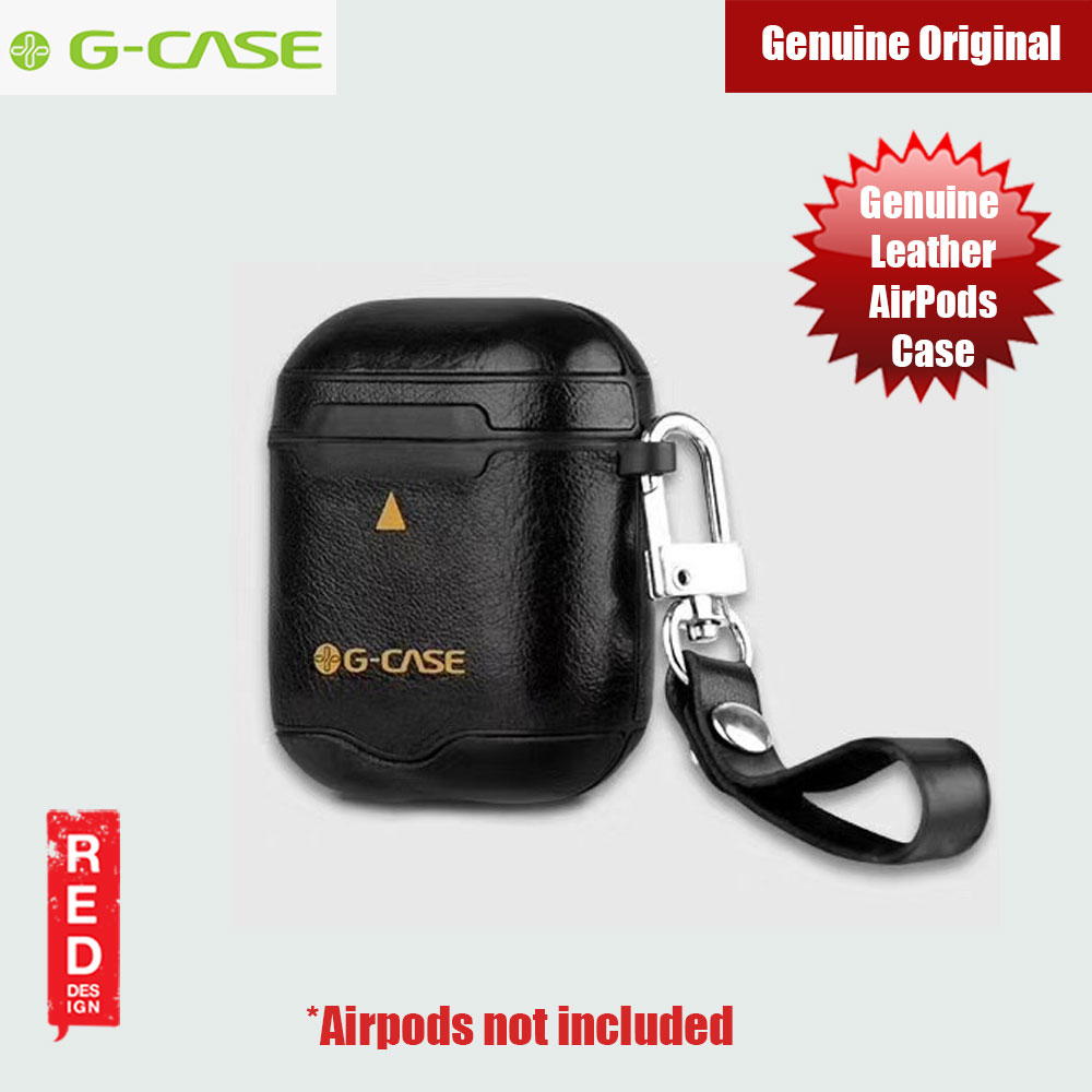 Picture of Gcase Monte Carlo Series Genuine Leather Airpods Case with Strap (Black) Apple Airpods 1- Apple Airpods 1 Cases, Apple Airpods 1 Covers, iPad Cases and a wide selection of Apple Airpods 1 Accessories in Malaysia, Sabah, Sarawak and Singapore