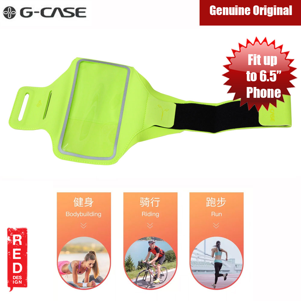 Picture of Gcase Niki Series Sport Armband with Window Compatible for iPhone XS Max Note 9 P20 Pro or Smartphone up to 6.5 inches (Green) Red Design- Red Design Cases, Red Design Covers, iPad Cases and a wide selection of Red Design Accessories in Malaysia, Sabah, Sarawak and Singapore