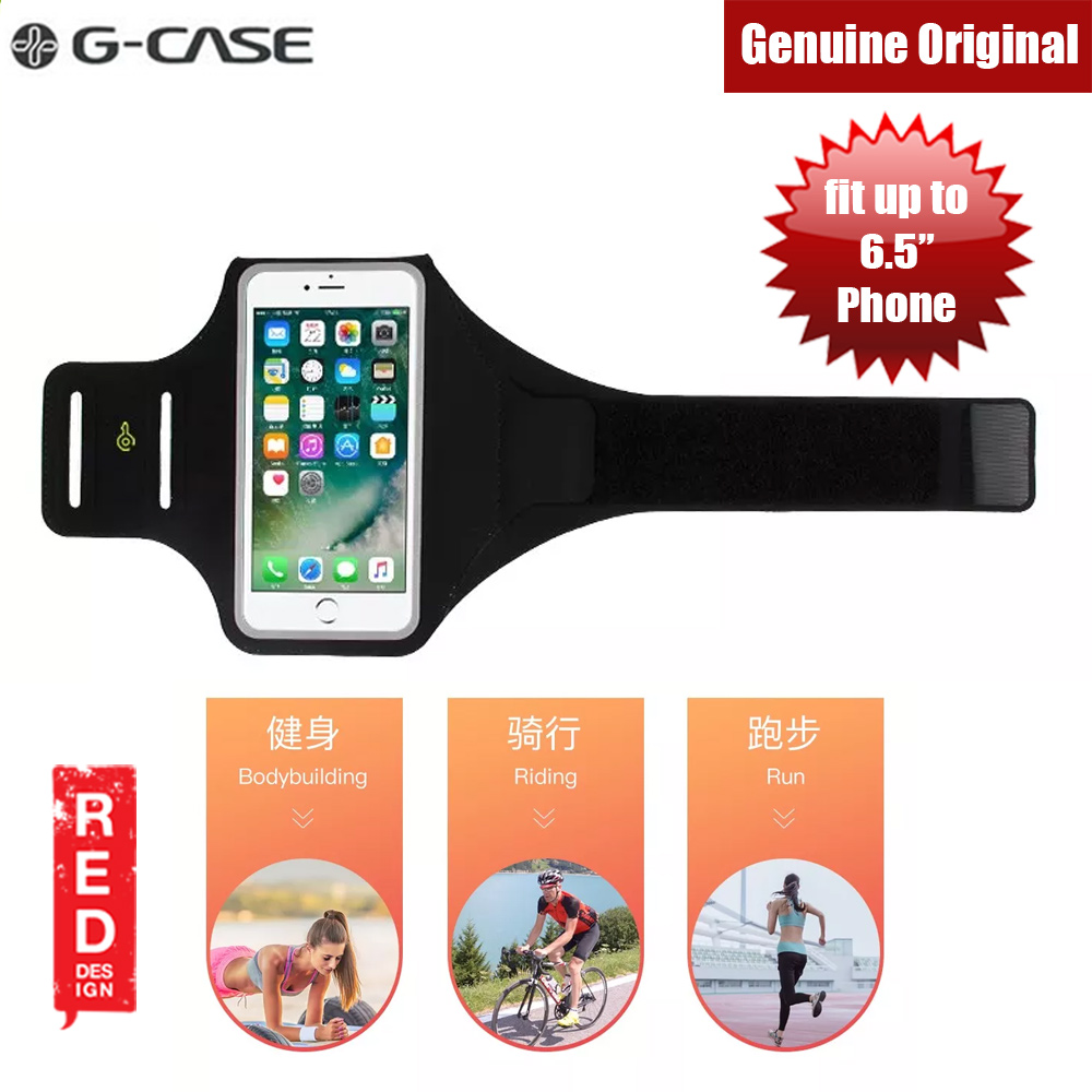 Picture of Gcase Niki Series Sport Armband with Window Compatible for iPhone XS Max Note 9 P20 Pro or Smartphone up to 6.5 inches (Black) Red Design- Red Design Cases, Red Design Covers, iPad Cases and a wide selection of Red Design Accessories in Malaysia, Sabah, Sarawak and Singapore