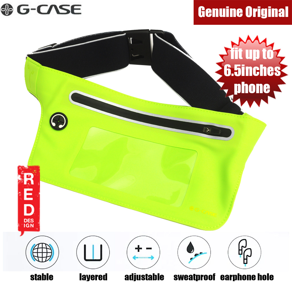Picture of Gcase Niki Series Sport Waist Bag with Window Compatible with Samsung Galaxy Note 9 Huawei P20 Pro iPhone XR XS XS Max (Green) Red Design- Red Design Cases, Red Design Covers, iPad Cases and a wide selection of Red Design Accessories in Malaysia, Sabah, Sarawak and Singapore