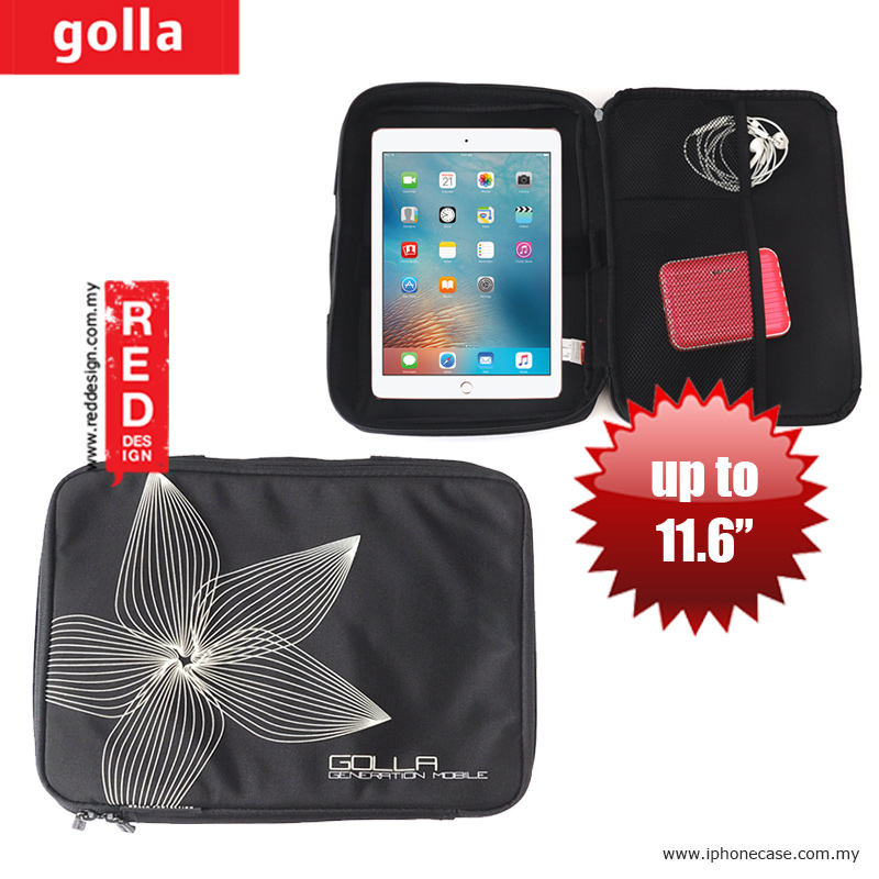 Picture of Golla Pouch Sleeve for Notebook iPad Pro 9.7, iPad Air, iPad 4 and Tablets up to 11.6 inches - Black Apple New iPad 3rd Gen & 4th Gen- Apple New iPad 3rd Gen & 4th Gen Cases, Apple New iPad 3rd Gen & 4th Gen Covers, iPad Cases and a wide selection of Apple New iPad 3rd Gen & 4th Gen Accessories in Malaysia, Sabah, Sarawak and Singapore