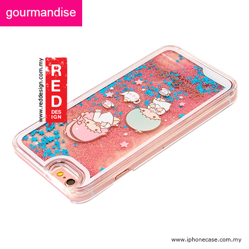 Picture of Apple iPhone 6S 4.7 Case | Gourmandise Glitter Flow Hello Kitty Case for iPhone 6 iPhone 6S 4.7 - Little Twin Star Tea Time